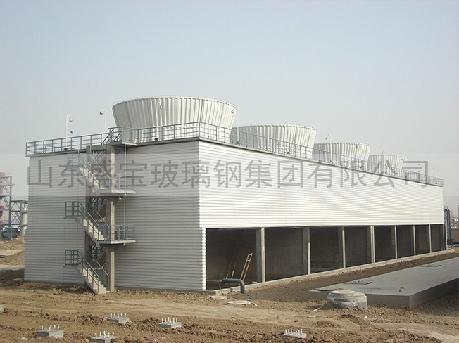 东营化工玻璃钢冷却塔项目